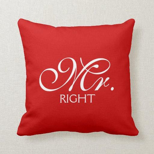 Mr. Right Throw Pillow Zazzle