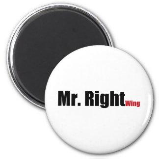 Mr. Right Wing Fridge Magnets