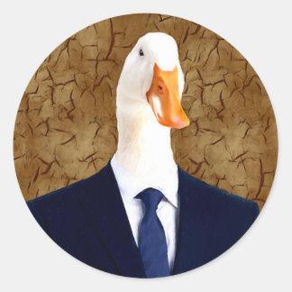 Mr Robertson - Goose Round Sticker