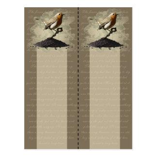 Mr. Robin Finds the Key, 2x bookmark postcard