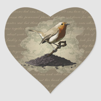 Mr. Robin Finds the Key, heart stickers