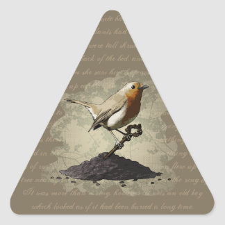 Mr. Robin Finds the Key, triangle stickers Triangle Sticker