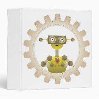 Mr. Robot with Steampunk Gear Heart Binder