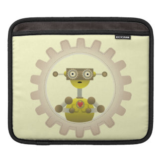 Mr. Robot with Steampunk Gear Heart iPad Sleeve