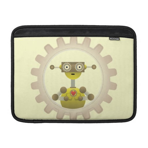 Mr. Robot with Steampunk Gear Heart Sleeve For MacBook Air