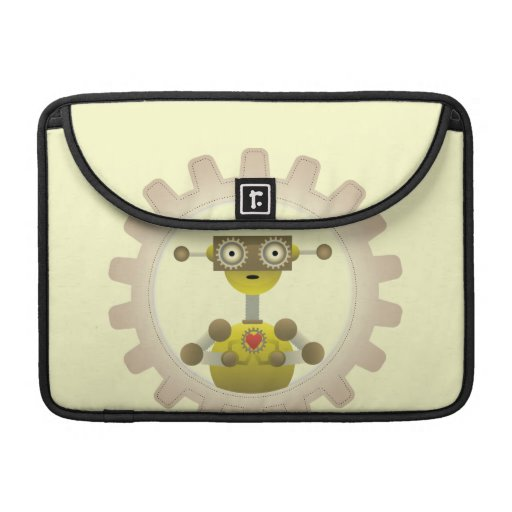 Mr. Robot with Steampunk Gear Heart Sleeve For MacBook Pro