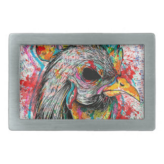 Mr. Rooster Rectangular Belt Buckle