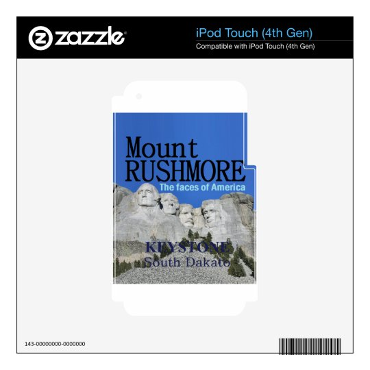 Mr. Rushmore Decal For iPod Touch 4G