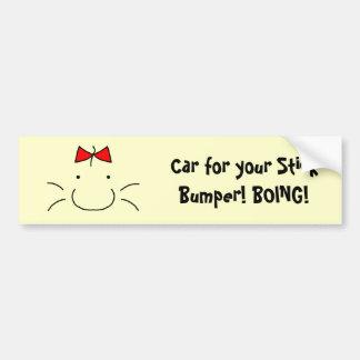 Mr. Saturn Bumper Sticker Car Bumper Sticker