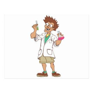 Mr. Science lab coat Postcard