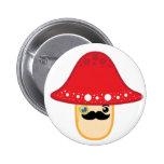 Mr. shroom pinback buttons