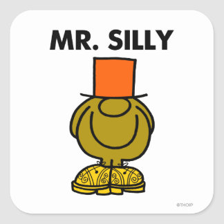 Mr Silly Classic Square Sticker