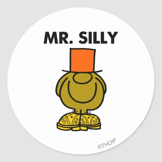 Mr. Silly | Hidden Eyes Classic Round Sticker