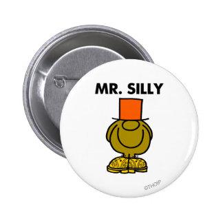 Mr. Silly   Hidden Eyes Pinback Button