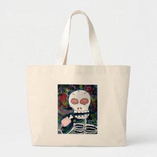 Mr. Skeleton Eats Meat Canvas Bag