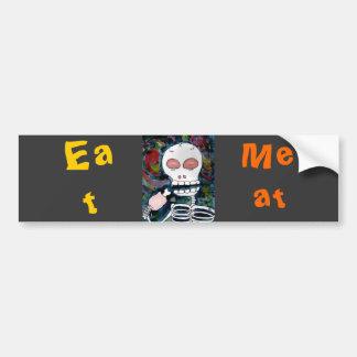 Mr. Skeleton Eats Meat -bumper stecker Bumper Sticker