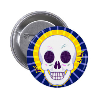 Mr. Skull 2 Inch Round Button