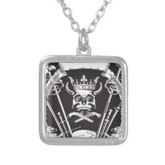 Mr Skull Silver Plated Necklace