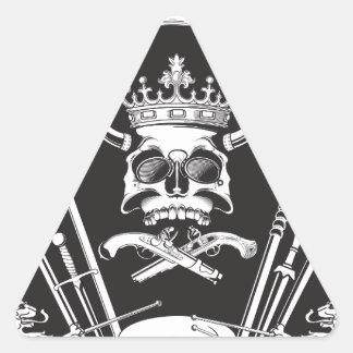Mr Skull Triangle Sticker