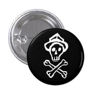 Mr. Skullington - Night Black 1 Inch Round Button