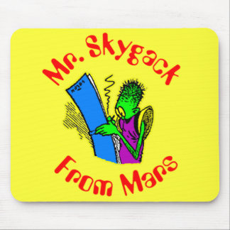 Mr. Skygack from Mars writing in his journal Mouse Pad