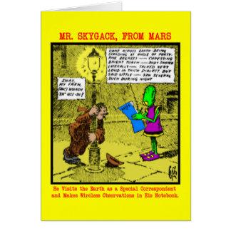 Mr. Skygack Observes a Drunk Greeting Card