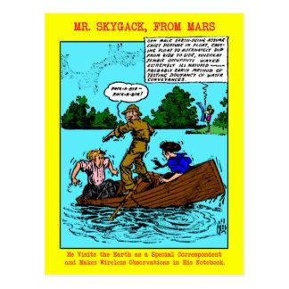 Mr. Skygack Observes Boaters Postcards