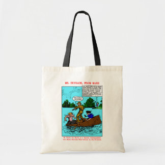 'Mr. Skygack Observes Boaters' Totes Canvas Bags