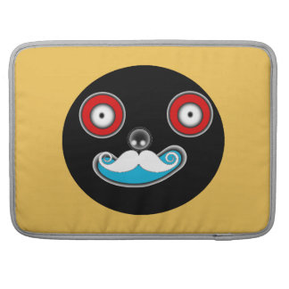 mr smiley face mustache Macbook Pro 15 Sleeve For MacBooks
