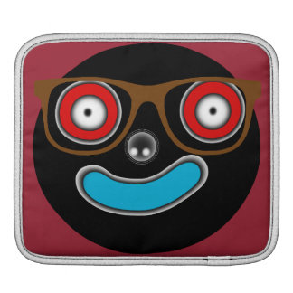 mr smiley face with glasses iPad sleeves