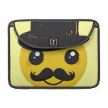 Mr Smiley Moustache MacBook Pro Sleeves