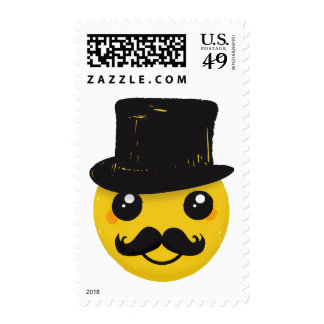 Mr Smiley Moustache Stamp
