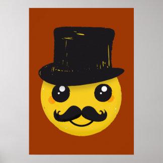 Mr Smiley Moustache poster