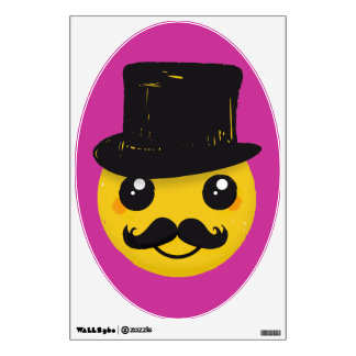 Mr Smiley Moustache Wall Sticker