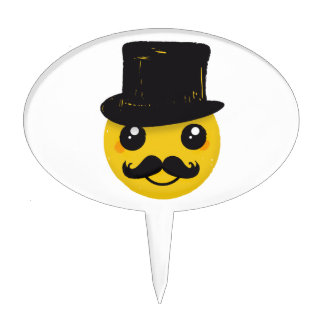 Mr Smiley Mustache Cake Topper