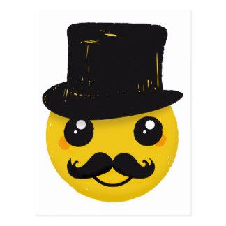 Mr Smiley Mustache Postcard