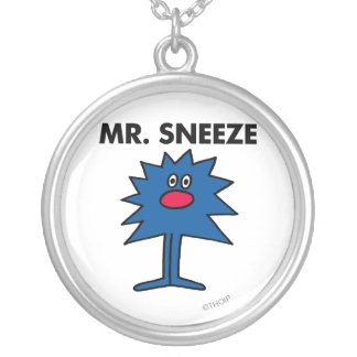 Mr. Sneeze | Jagged-Edged Body Silver Plated Necklace