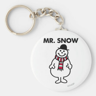 Mr. Snow | Classic Pose Basic Round Button Keychain