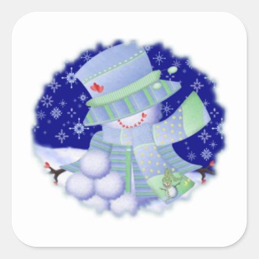 Mr. Snow Square Sticker