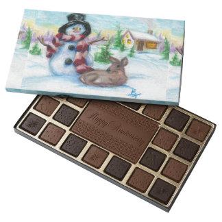 Mr. Snowman 45 Piece Box Of Chocolates