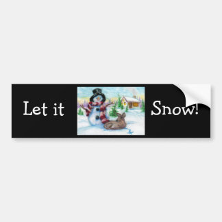Mr Snowman Bumper Sticker