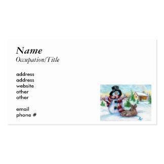 Mr. Snowman Business Card