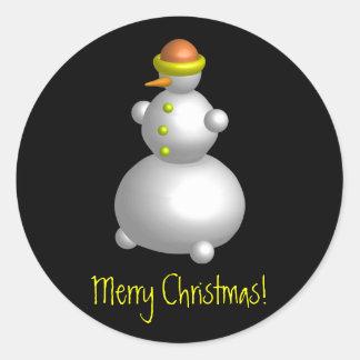 Mr. Snowman Classic Round Sticker