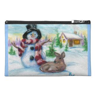 Mr. Snowman Travel Accessories Bag