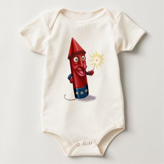 Mr. Sparkle Firecracker Toon Baby Bodysuit