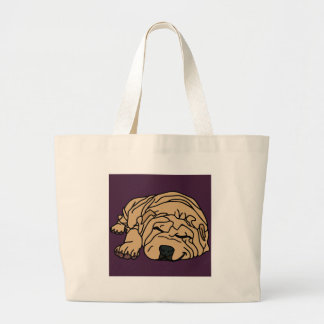 Mr Squishy the Shar-pei Puppy Large Tote Bag