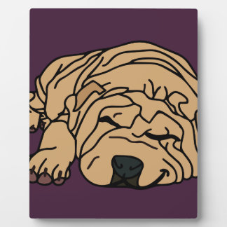 Mr Squishy the Shar-pei Puppy Plaque