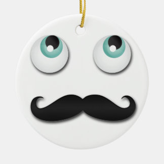 Mr stache ceramic ornament