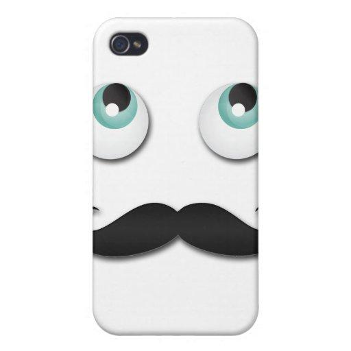 Mr.stache iPhone 4/4S Funda
