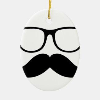 Mr. Stache Christmas Ornaments